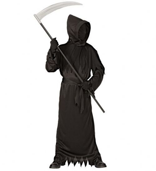 Adults Black Ghoul Costume Halloween Fancy Dress